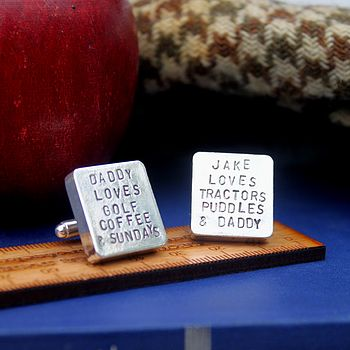 Personalised Daddy Loves…cufflinks