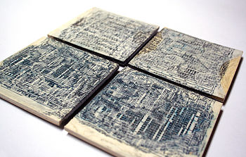 Recycled Maths Book Coasters