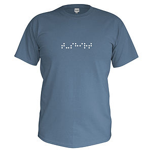 Men's Personalised Braille T Shirt