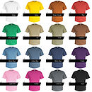 Classic t-shirt colour guide