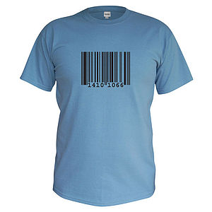 Men's Personalised Barcode T Shirt - men's fashion