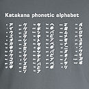Katakana phonetic alphabet