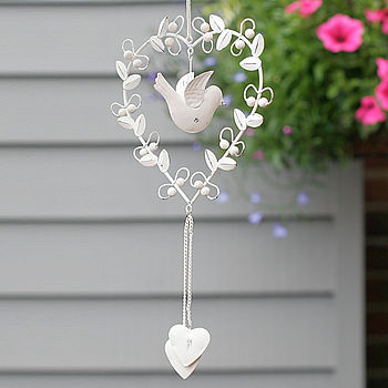 Vintage Bird Heart Decoration