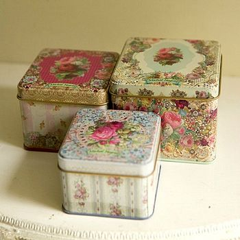 Three Victorian Style Tins By Michal Negrin