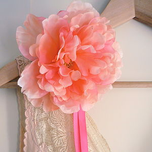 Peony Fabric Flower Corsage - home accessories