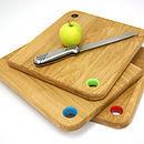 Colour Coded Oak Chopping Boards