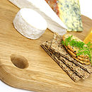 Natural colour board for cooked food or used as a cheese board