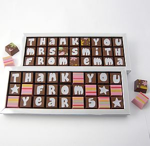 Personalised Chocolates For Teachers - gifts for teachers