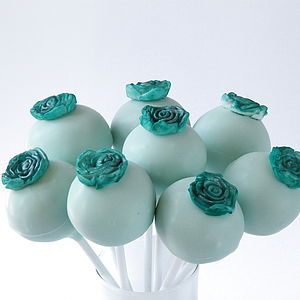 Eight Flower Cake Pops - wedding favours