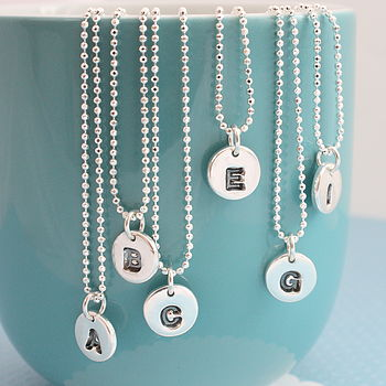 Little Dot Personalised Silver Necklace