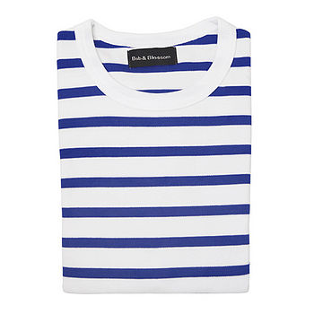Kids T-Shirt French Blue & White Breton