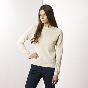 Royal Alpaca Round Neck Sweater - women's fashion sale