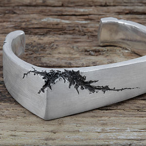 Men's Fracture Silver Cuff - view all father's day gifts