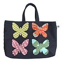 Butterfly Denim Tote Bag