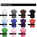 Available female fitted tee colours
