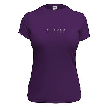 Women's Personalised Braille T Shirt