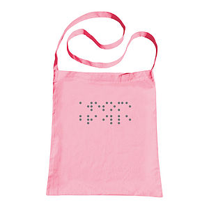 Personalised Braille Sling Tote Bag