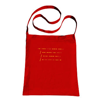 Personalised Morse Code Sling Tote Bag