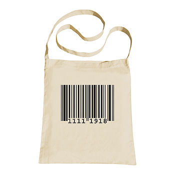 Personalised Barcode Sling Tote Bag