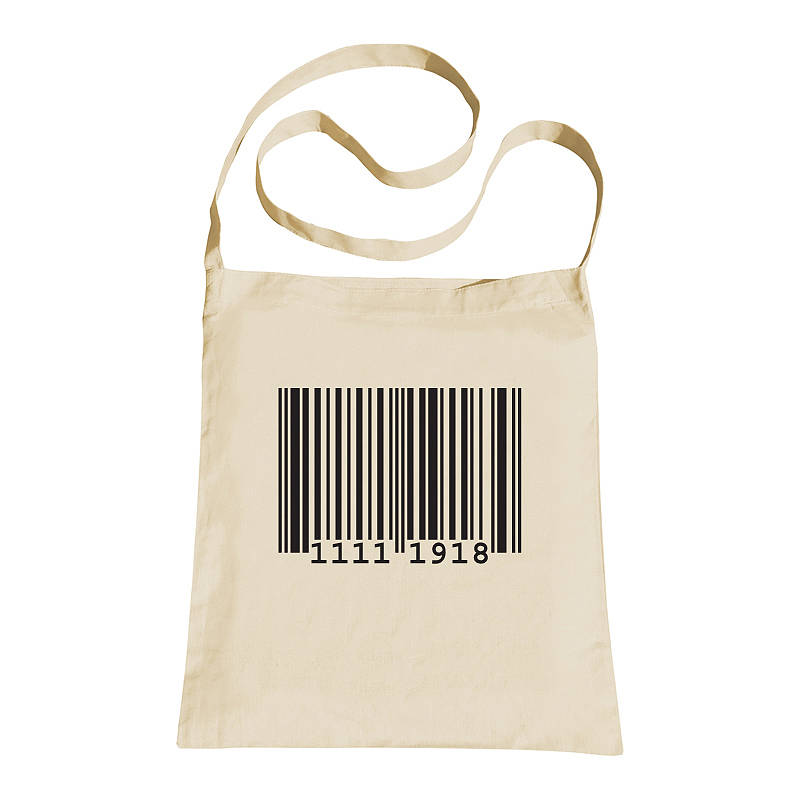 personalised barcode sling tote bag by primitive state ...