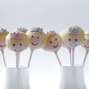 Eight Princess Cake Pops - cakes & treats