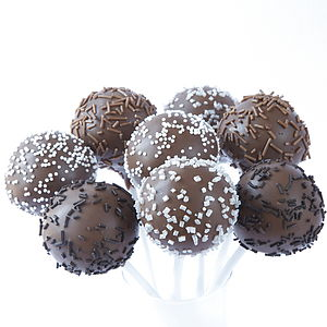 Eight Chocoholics Cake Pops - edible favours