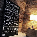 Personalised Classic New York Canvas