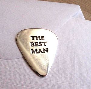 Personalised Wedding Plectrum - keyrings