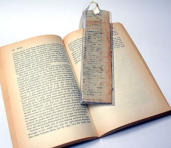 Recycled Book Book Mark