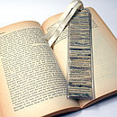 Recycled Newspaper Book Mark - Small