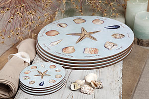 Set Of Four Sea Shells Coasters - tableware