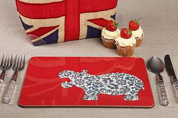 Set Of Four Animal Tablemats