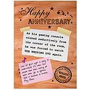 Reality Check 'Happy Anniversary' Card