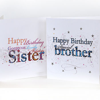 'Happy Birthday' Brother Or Sister Card