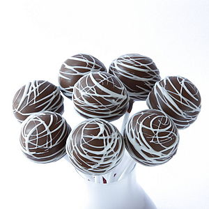 Eight Chocolate Drizzle Cake Pops - cakes
