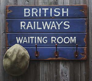 Vintage Style 'British Railways' Hook Board - bathroom
