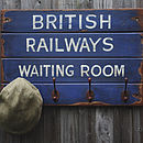 Vintage Style 'British Railways' Hook Board