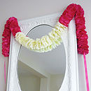 Fuchsia Petal Fabric Flower Garland