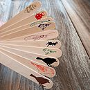 Ten Wooden Foil Pressed Seed & Plant Markers
