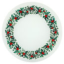 Holly Wreath Glass Platter