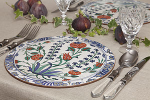 Set Of Four Iznik Design Tablemats - placemats & coasters