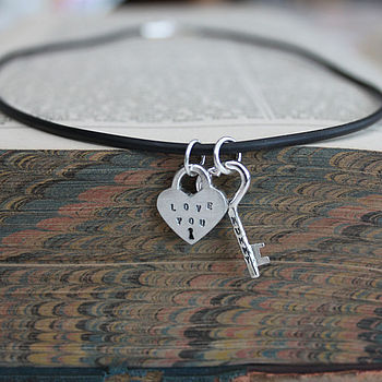 Personalised Key To My Heart Necklace