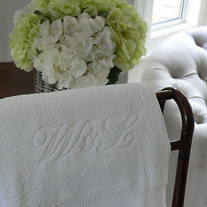 Monogrammed Towel - gifts for couples