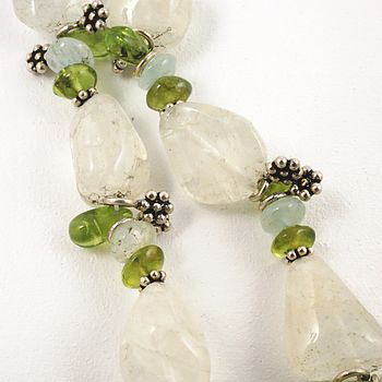 Peridot And Aquamarine Necklace