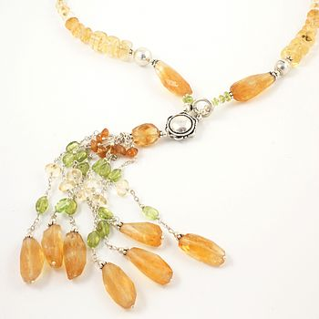 Citrine And Peridot Necklace
