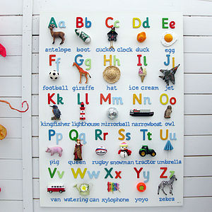 Personalised 3D Alphabet - nursery pictures & prints