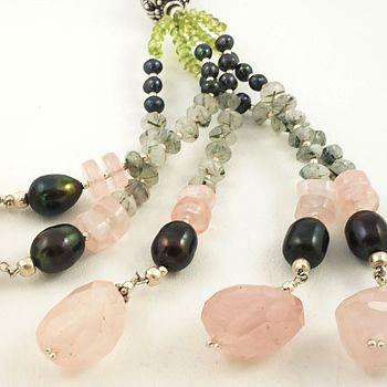Rose Quartz And Peridot Necklace