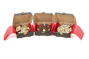 Three Mini Chocolate Pizzas - food gifts
