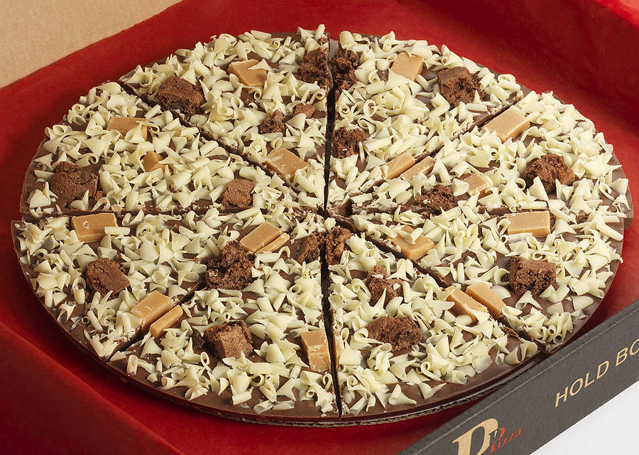 ... > THE GOURMET CHOCOLATE PIZZA CO. > CRUNCHY MUNCHY CHOCOLATE PIZZA