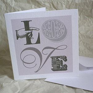 'Love' Vintage Style Card Six Designs - shop by category